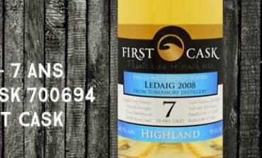 Ledaig - 2008/2015 - 7yo - 60,7% - Cask 700694 - Whisky Import Nederland - First Cask