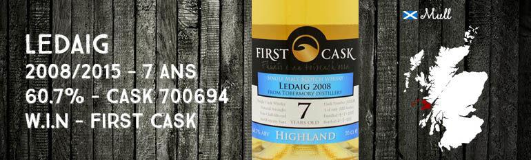 Ledaig – 2008/2015 – 7yo – 60,7% – Cask 700694 – Whisky Import Nederland – First Cask