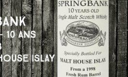 Springbank - 1998/2008 - 10yo - 59,7% - OB - for Malt House Islay