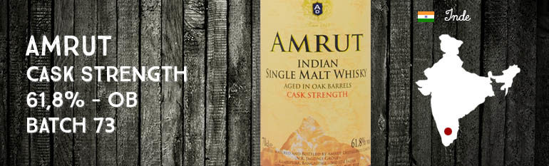 Amrut – Cask Strength – 61,8% – OB – Batch 73