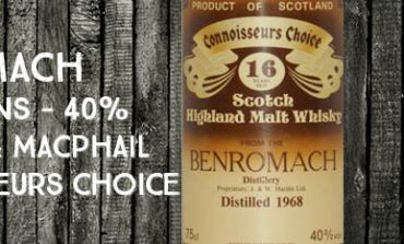 Benromach - 1968 - 16yo - 40% - Gordon & MacPhail - Connoisseurs Choice - Brown Label