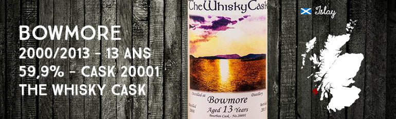 Bowmore – 2000/2013 – 13yo – 59,9% – Cask 20001 – The Whisky Cask