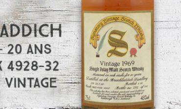 Bruichladdich - 1969/1990 - 20yo - 43% - Cask 4928-32 - Signatory Vintage - Vintage Collection Dumpy