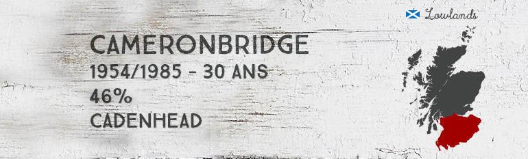 Cameronbridge – 1954/1985 – 30yo – 46% – Cadenhead – Dumpy Bottle