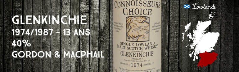 Glenkinchie – 1974/1987 – 13yo – 40% – Gordon & Macphail – Old Map Label