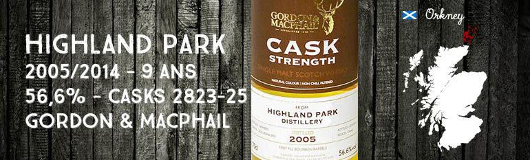 Highland Park – 2005/2014 – 9 ans – 56,6% – Casks 2823-25 – Gordon & MacPhail – Cask Strength Collection