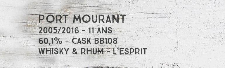 Port Mourant – 2005/2016 – 11yo – 60,1% – Cask BB108 – Whisky & Rhum – L'esprit – Guyana