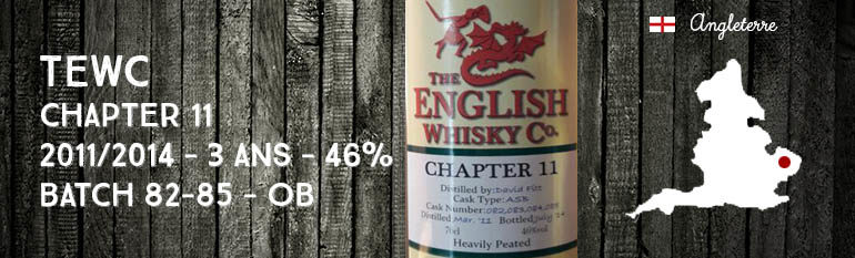The English Whisky Company – Chapter 11 – 2011/2014 – 3yo – 46% – OB