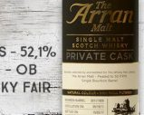 Arran – 2011/2017 – 5yo – 52,1% – Cask 2011/1835 – OB – Private Cask – for The Whisky Fair