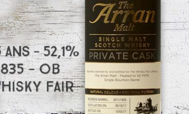 Arran - 2011/2017 - 5yo - 52,1% - Cask 2011/1835 - OB - Private Cask - for The Whisky Fair