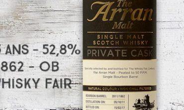 Arran - 2011/2017 - 5yo - 52,8% - Cask 2011/1862 - OB - Private Cask - for The Whisky Fair