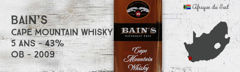 Bain's – Cape Mountain Whisky – 43% – OB – 2009