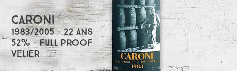 Caroni – 1983/2005 – 22yo – 52% – Full Proof – Heavy Trinidad Rum – Velier – Trinidad & Tobago
