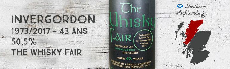 Invergordon – 1973/2017 – 43yo – 50,5% – The Whisky Fair