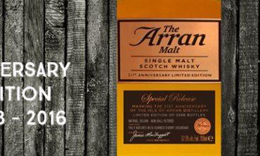 Arran - 21st Anniversary - Limited Edition - 52,6% - OB - 2016