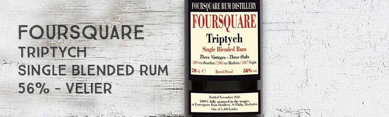 Foursquare – Triptych – Single Blended Rum – 56% – Velier – Barbade