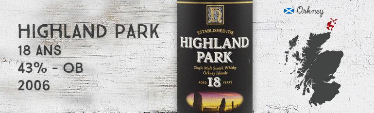 Highland Park – 18yo – 43% – OB – 2006