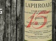 Laphroaig - 15yo - 43% - OB - Unblended Islay Scotch Whisky - Red Writing - Importato da Francesco Cinzano - 1980's