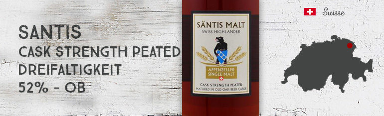 Santis – Cask Strength Peated – Dreifaltigkeit – 52% – OB