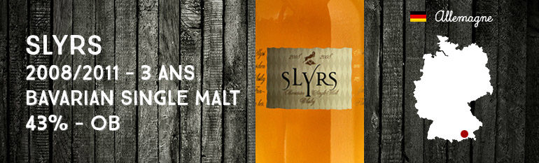 Slyrs – 2008/2011 – 3yo – Bavarian Single Malt – 43% – OB