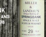 Springbank – 1965/1994 – 29yo – 46% – Cask 1298 – OB – for Ian Miller & Jonathan Landau