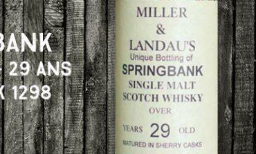 Springbank - 1965/1994 - 29yo - 46% - Cask 1298 - OB - for Ian Miller & Jonathan Landau