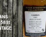 Cambus – 1991/2015 – 24yo – 51,9% – Cask 55891 – Signatory Vintage – Cask Strength
