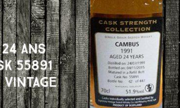 Cambus - 1991/2015 - 24yo - 51,9% - Cask 55891 - Signatory Vintage - Cask Strength
