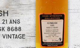 Clynelish - 1995/2017 - 21yo - 51,2% - Cask 8688 - Signatory Vintage - Cask Strength