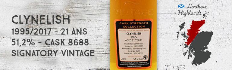 Clynelish – 1995/2017 – 21yo – 51,2% – Cask 8688 – Signatory Vintage – Cask Strength