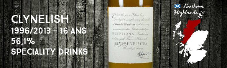 Clynelish – 1996/2013 – 16yo – 56,1% – Speciality Drinks – Masterpieces