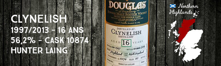 Clynelish – 1997/2013 – 16yo – 56,2% – Cask 10874 – Hunter Laing – Douglas of Drumlanrig