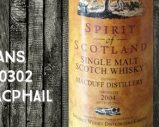 Macduff – 2004/2013 – 9yo – 46% – Cask 900302 – Gordon & MacPhail – Spirit of Scotland – for Van Wees
