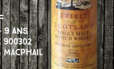 Macduff - 2004/2013 - 9yo - 46% - Cask 900302 - Gordon & MacPhail - Spirit of Scotland - for Van Wees