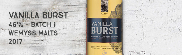 Vanilla Burst – 46% – Batch 1 – Wemyss Malts – Wemyss Family Collection – 2017