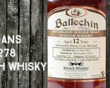 Ballechin – 2004/2016 – 12yo – 55,6% – Cask 278 – OB – for Kirsch Whisky