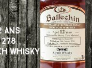 Ballechin - 2004/2016 - 12yo - 55,6% - Cask 278 - OB - for Kirsch Whisky