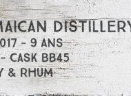 A Jamaican distillery - 2007/2017 - 9yo - 56,5% - Cask BB45 - Whisky & Rhum - L'esprit - Jamaique