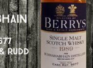 Bunnahabhain - 1989/2014 - 46% - Cask 5677 - Berry Bros & Rudd
