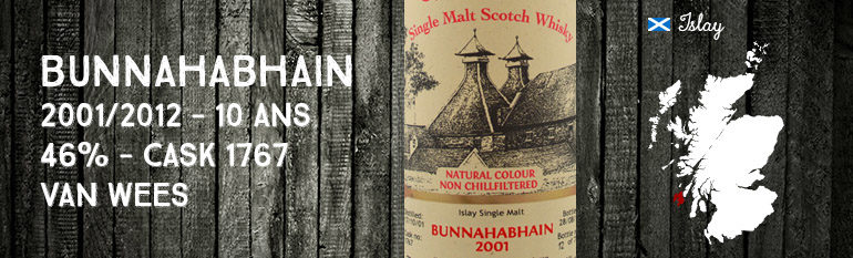 Bunnahabhain – 2001/2012 – 10yo – 46% – Cask 1767 – Van Wees – The Ultimate