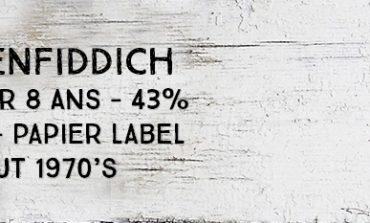 Glenfiddich - Over 8yo - 43% - OB - Papier Label - début 1970's