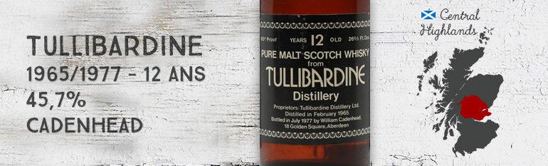 Tullibardine – 1965/1977 – 12yo – 45,7% – Cadenhead – Black Dumpy