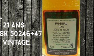 Imperial - 1995/2016 - 21yo - 55,6% - Cask 50246 + 50247 - Signatory Vintage - Cask Strength
