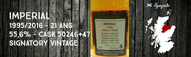 Imperial – 1995/2016 – 21yo – 55,6% – Cask 50246 + 50247 – Signatory Vintage – Cask Strength