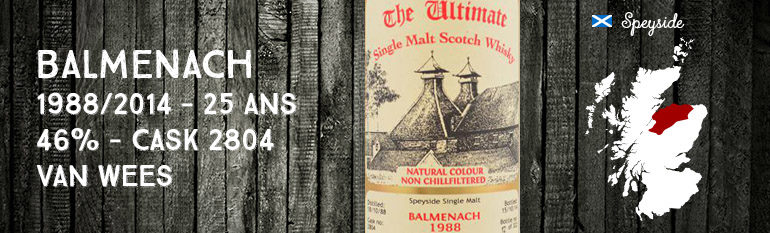 Balmenach – 1988/2014 – 25yo – 46% – Cask 2804 – Van Wees – The Ultimate