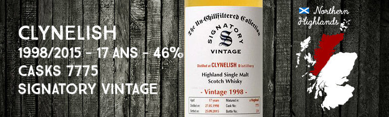 Clynelish – 1998/2015 – 17yo – 46% – Cask 7775 – Signatory Vintage – The Un-chillfiltered Collection