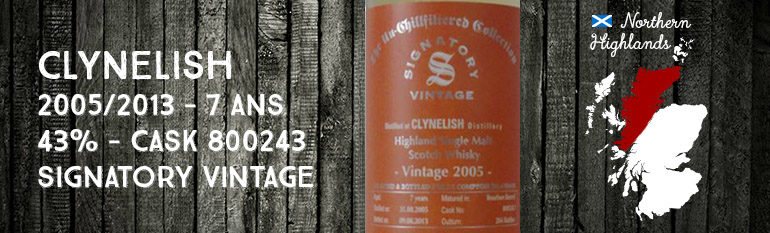 Clynelish – 2005/2013 – 7yo – 43% – Cask 800243 – Signatory Vintage – The Un-chillfiltered Collection – for Le Comptoir Irlandais