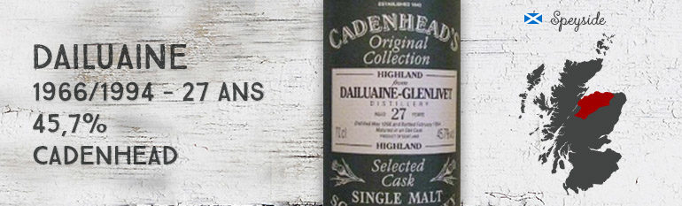 Dailuaine – 1966/1994 – 27yo – 45,7% – Cadenhead – Original Collection
