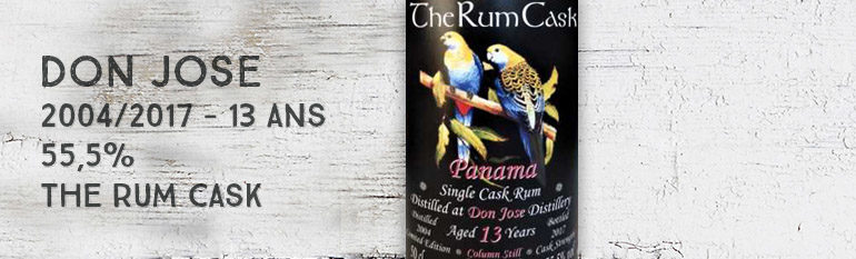 Don Jose – 2004/2017 – 13yo – 55,5% – The Rum Cask – Panama
