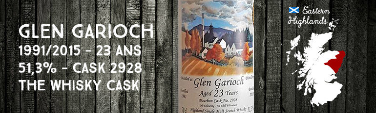 Glen Garioch – 1991/2015 – 23yo – 51,3% – Cask 2928 – The Whisky Cask
